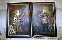 Portraits of Maria Theresa, Queen of Hungary and her husband