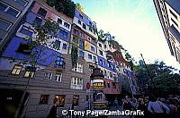 Hundertwasserhaus - nothing about these blocks are straight