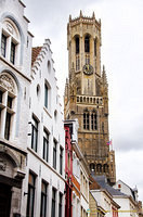 View of Bruges' Belfort from Burg Square