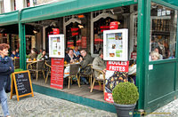 A moules restaurant on the Markt