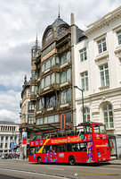 Brussels sightseeing bus on Rue Montagne de la Cour 2