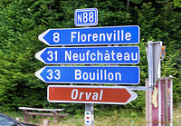 Signpost to Orval