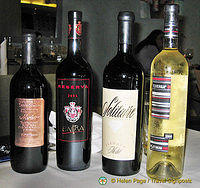 A range of Bulgarian wines