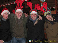 Rudolf, Dasher, Dancer and Prancer adding good cheer with their carols