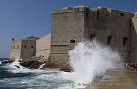 Waves pelting the City Walls