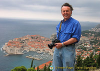 Tony, snapping Dubrovnik Old Town