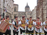 Picture of watch guards with Dubrovnik Cathedral in the background