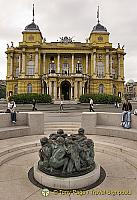 Croatian National Theatre and the Well of Life