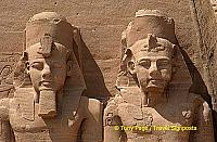 The four colossi signify a unified Egypt.