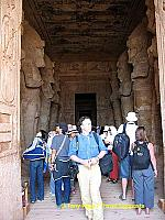 Whereas the northern ones wear the double crown of Upper & Lower Egypt.