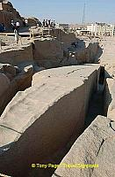 Still partly attached to the parent rock, it tells us how these giant obelisks were made.