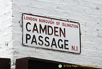Camden Passage sign