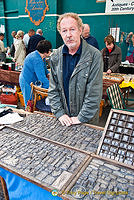 Paul, owner of this rubber-stamp stall
