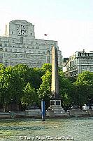 Cleopatra's Needle with the Shell Mex House in the rear
