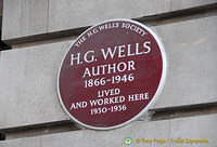 HG Wells lived and worked here