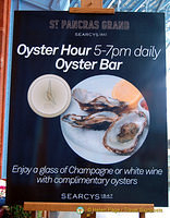Champagne and oysters while you wait for your train