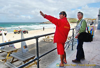 Tony chatting to the Lifeguard