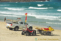 Porthmeor Beach is manned by lifeguards