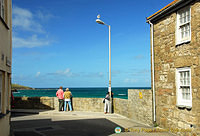 Looking out to Porthmeor Beach