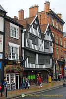 A medieval house.  Next door is the Golden Fleece, the most haunted pub in York