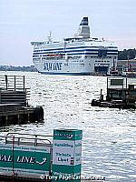 Arriving in Helsinki on the Silja Ferry Line