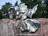 Sibelius Monument - Face of Sibelius during creative age (circa 1910)