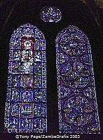 Blue Virgin Window on the south side