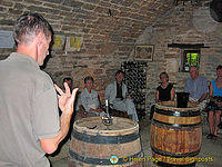 Wine-tasting, Fixin, Cote d'Or, France