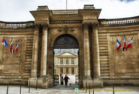 Entrance to Archives Nationales at 60 rue des Francs-Bourgeous