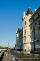Seine-facing facade of Conciergerie