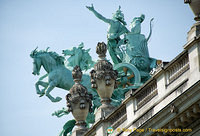 This bronze quadriga by Georges Récipon depicts the triumph of Harmony over Discord