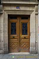 Interesting wooden door