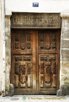 An ancient looking wood door