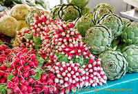 Great radish and artichokes at Marché Baudoyer