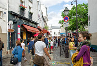 rue Norvins, a main street in Montmartre