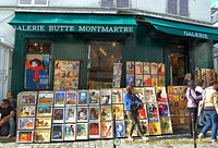 Galerie Butte Montmartre where you can buy classic posters