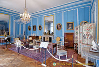 Louis XVI Blue Room with furniture by famous designers