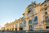 The Musée d'Orsay is housed in the old Gare d'Orsay building