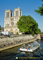 Notre-Dame western facade and Seine River view