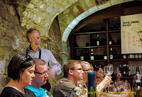 A little lecture about the wines we were tasting