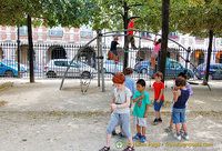 Kids playground in the Place des Vosges