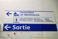 Direction to the Montmartre funicular