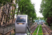 The Montmartre funicular is a double track funicular