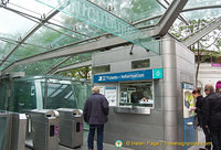 Ticket office and turnstile of Montmartre funicular