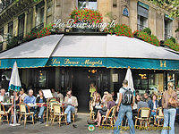 The name Les Deux Magots (two Chinese figurines) originates from a novelty shop that once occupied the premises