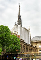 Upper section of Sainte-Chapelle, as seen from the gates of the Palais de Justice