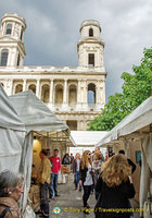 A contemporary art market in front of St Sulpice