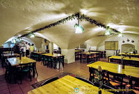 Klosterbräu vaulted cellar where their brewery festivals take place