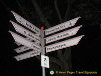 Signposts to Koblenz tourist attractions