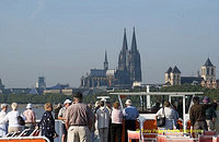 Approaching Cologne on our river boat